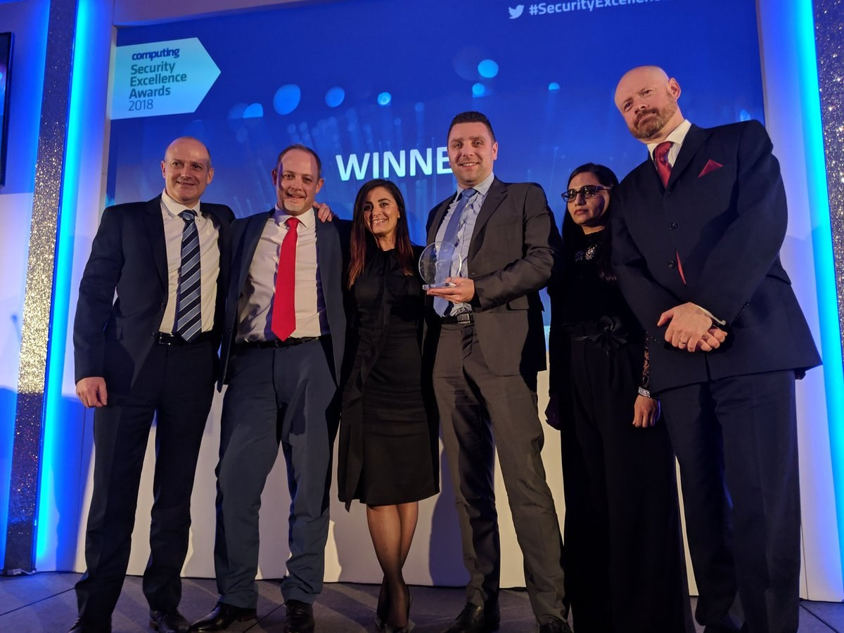 SysGroup is the Security Vendor of the Year (SME) in Computing's Security Excellence Awards 2018