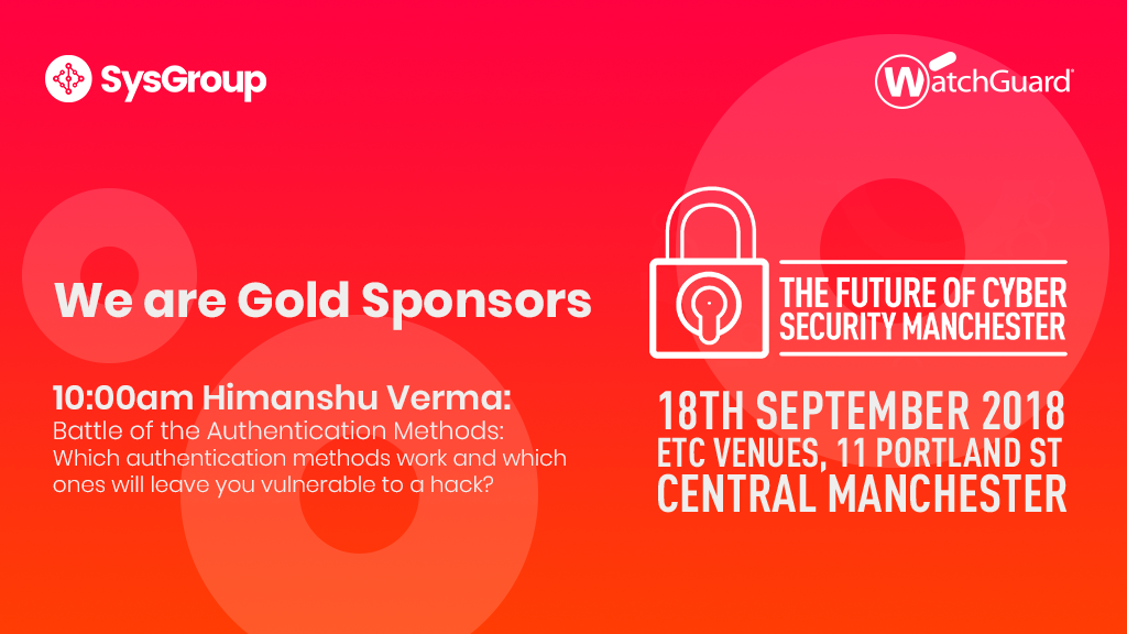 We are Gold Sponsors with WatchGuard