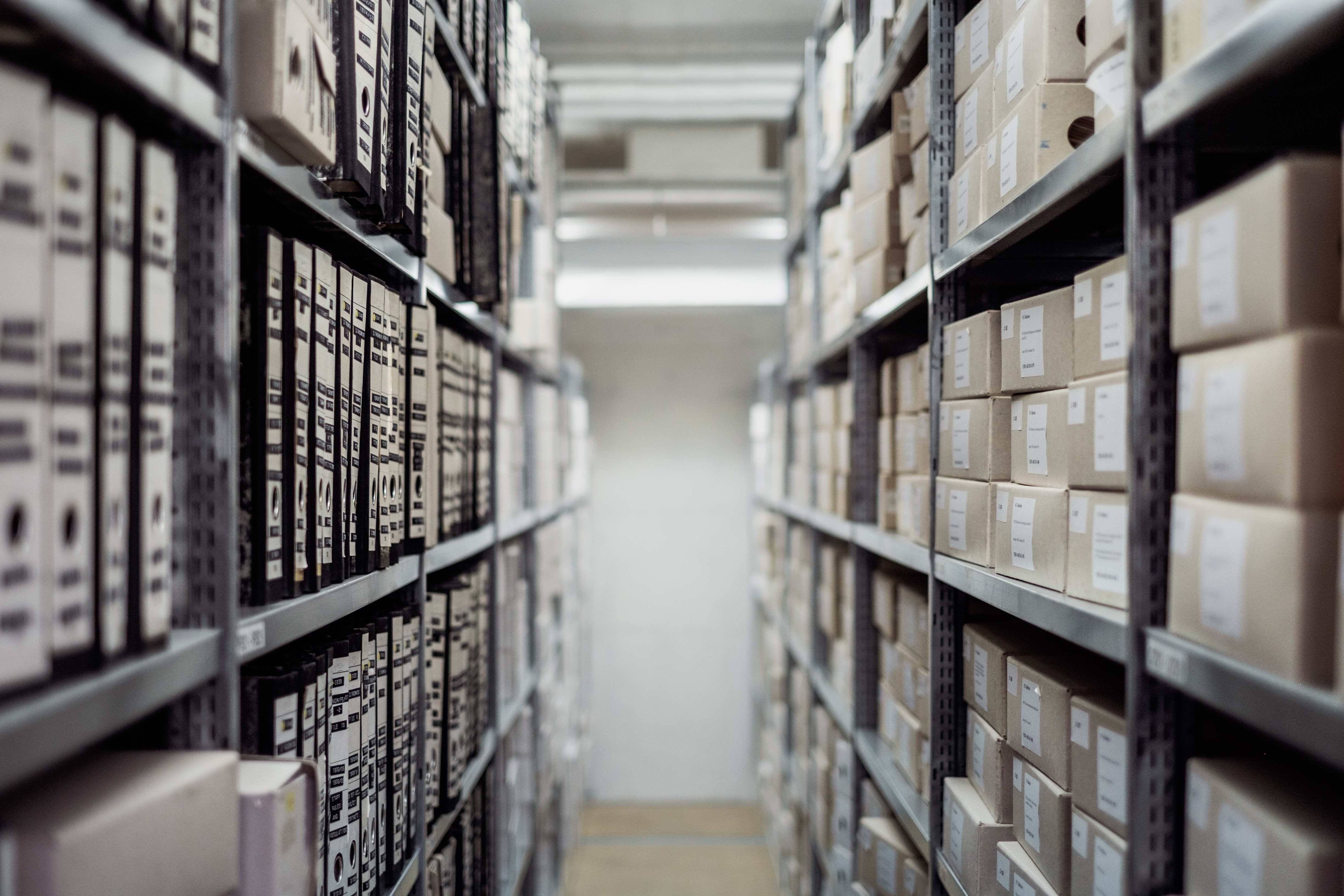 Business Files and Records in Storage